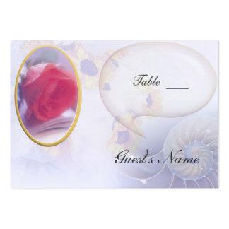Asiento color de rosa de la tabla del boda tarjetas de visita grandes