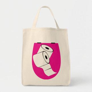 Asiento de inodoro y dos Rolls de papel higiénico Bolsas