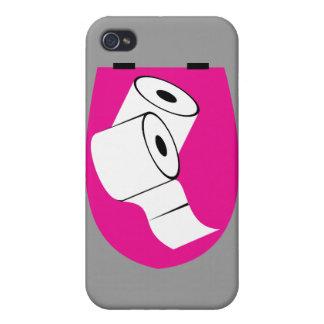 Asiento de inodoro y dos Rolls de papel higiénico iPhone 4 Carcasa
