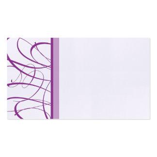 Asiento de la tabla/tarjeta púrpuras elegantes del tarjetas de visita