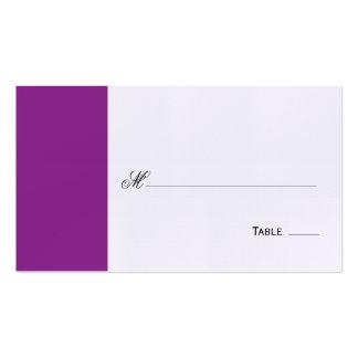 Asiento de la tabla/tarjeta púrpuras elegantes del plantillas de tarjeta de negocio