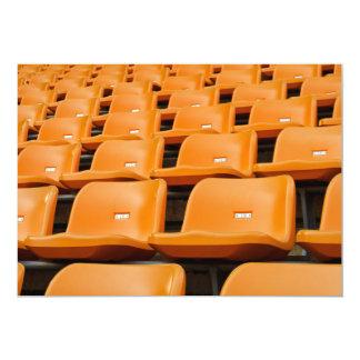 """Asiento del estadio invitación 5"""" x 7"""""""