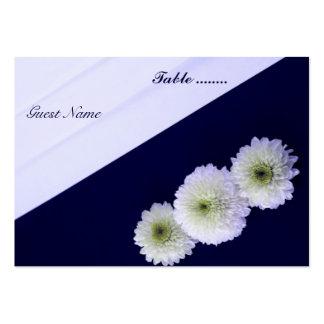 Asiento elegante de la tabla del boda tarjetas de visita grandes