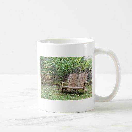 Asiento para dos taza de café