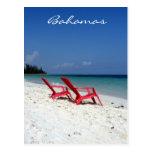 asientos de Bahamas Tarjeta Postal