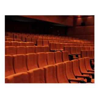 Asientos de la etapa del teatro del cine postales