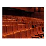 Asientos de la etapa del teatro del cine tarjetas postales