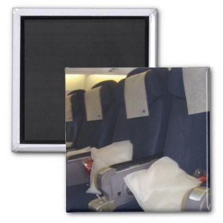 Asientos del aeroplano imán cuadrado