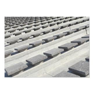 """Asientos del cemento invitación 5"""" x 7"""""""