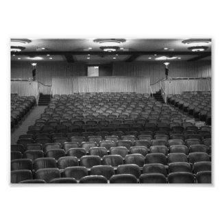 Asientos del teatro arte con fotos