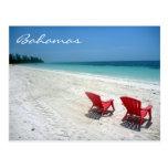 asientos magníficos de Bahamas Tarjeta Postal