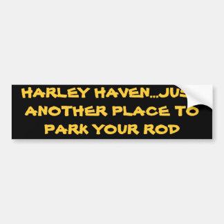 ASILO DE HARLEY… APENAS OTRO LUGAR PARA PARQUEAR S PEGATINA PARA AUTO