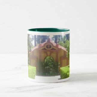 Asilo seguro taza de café de dos colores