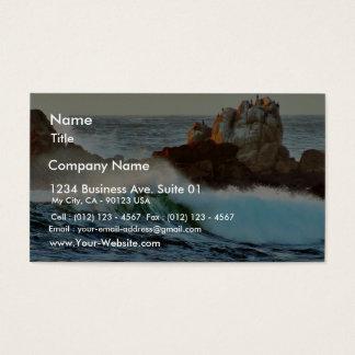 Asilomar Beaches Waves Ocean Dusk Business Card