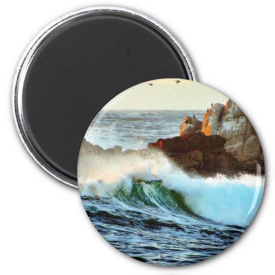 Asilomar Beaches Waves Ocean Dusk Magnet