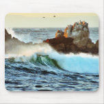 Asilomar Beaches Waves Ocean Dusk Mouse Pad