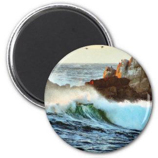 Asilomar vara oscuridad del océano de las ondas imán redondo 5 cm