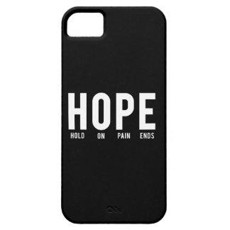 Asimiento de la esperanza… en extremos del dolor iPhone 5 carcasas