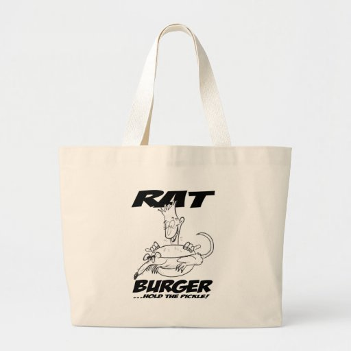 Asimiento de la hamburguesa de la rata la salmuera bolsa lienzo