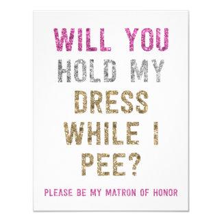 """Asimiento del brillo mi vestido mientras que hago invitación 4.25"""" x 5.5"""""""
