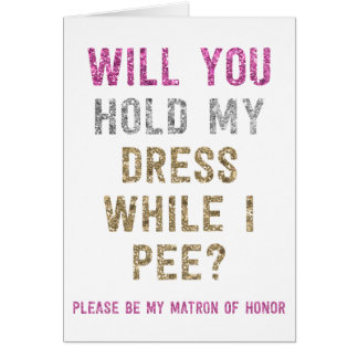 Asimiento del brillo mi vestido mientras que hago tarjeta pequeña