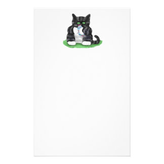 Asimientos gris oscuro del gatito del tigre papelería de diseño