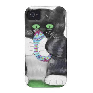 Asimientos gris oscuro del gatito del tigre vibe iPhone 4 carcasas