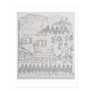 Asirios que mueven una Bull coa alas en un trineo, Tarjetas Postales