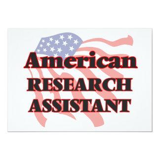"""Asistente de investigación americano invitación 5"""" x 7"""""""