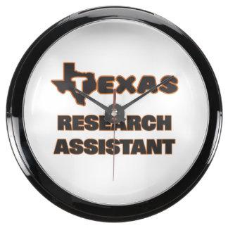 Asistente de investigación de Tejas Reloj Aqua Clock