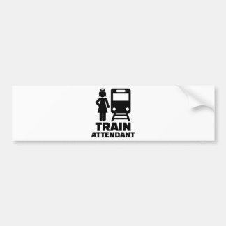 Asistente de tren pegatina para auto