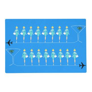 Asistente de vuelo clásico Placemat laminado Salvamanteles
