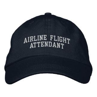 Asistente de vuelo de la línea aérea gorra de beisbol