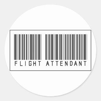 Asistente de vuelo del código de barras pegatinas