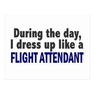 Asistente de vuelo durante el día tarjetas postales