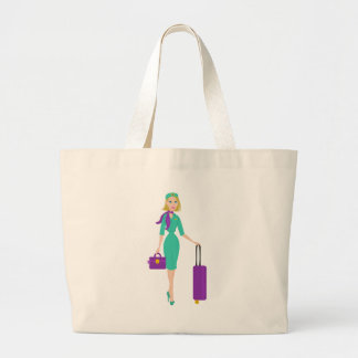 Asistente de vuelo fabuloso bolsas