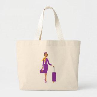 Asistente de vuelo fabuloso bolsas lienzo