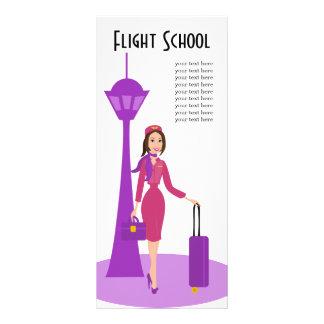 Asistente de vuelo fabuloso lona personalizada