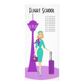 Asistente de vuelo fabuloso tarjeta publicitaria a todo color