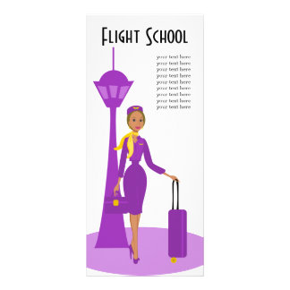 Asistente de vuelo fabuloso tarjetas publicitarias