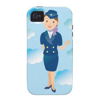 Asistente de vuelo iPhone 4 carcasa