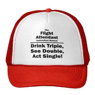 asistente de vuelo gorros bordados