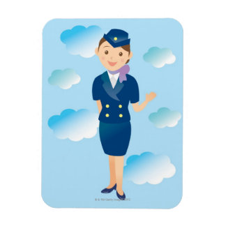Asistente de vuelo imán