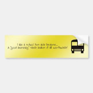 Asistente del autobús - pegatina para el parachoqu etiqueta de parachoque