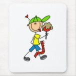 Asistente del carnaval del muchacho alfombrilla de ratón