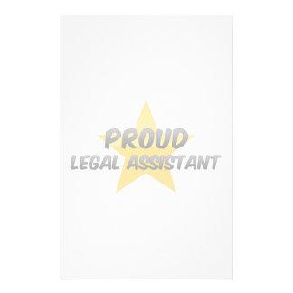 Asistente legal orgulloso papelería