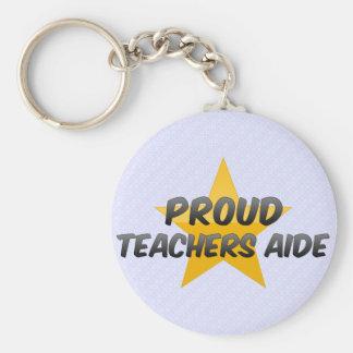 Asistente orgulloso de los profesores llavero
