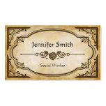 Asistente social - antigüedad elegante del vintage tarjetas de visita