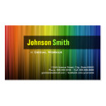 Asistente social - colores elegantes del arco iris plantillas de tarjetas personales