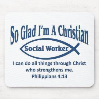 Asistente social cristiano tapete de raton